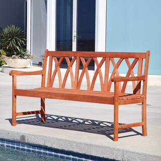 Malibu Eco-friendly 5-foot Outdoor Hardwood Garden Bench