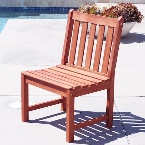 Surfside Eco-friendly Outdoor Hardwood Garden Armless Chair by Havenside Home