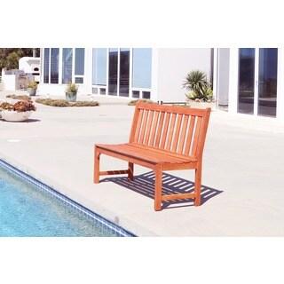 Malibu Eco-friendly 4-foot Outdoor Hardwood Garden Armless Bench