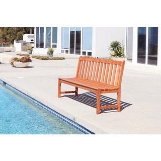 Malibu Eco-friendly 5-foot Outdoor Hardwood Garden Armless Bench