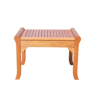 Malibu Eco-friendly Outdoor Hardwood Garden Backless Chair