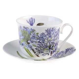 Roy Kirkham Agapanthus Breakfast Cups/ Saucer (Set of 2)