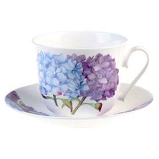 Roy Kirkham Hydrangea Breakfast Cups/ Saucer (Set of 2)