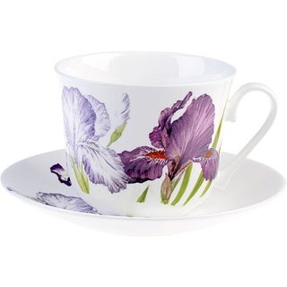 Roy Kirkham Iris Breakfast Cups/ Saucer (Set of 2)