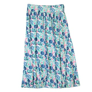 DownEast Basics Girls' Elastic Waistband Maxi Skirt