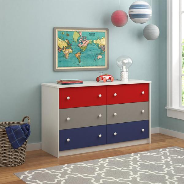 Ameriwood Home Kaleidoscope Classic 6-drawer Dresser by Cosco. Opens flyout.