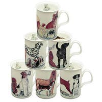 Roy Kirkham Lancaster Dogs Galore Mugs (Set of 6)