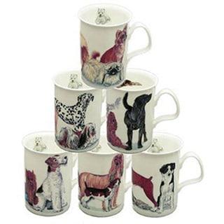 Roy Kirkham Lancaster Dogs Galore Mugs (Set of 6)