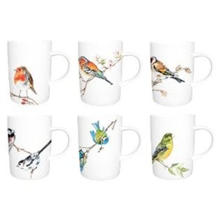 Roy Kirkham Lyric Birds Mugs (Set of 6)