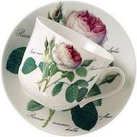 Roy Kirkham Redoute Rose Breakfast Cups/ Saucer (Set of 2)