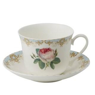 Roy Kirkham Vintage Roses Breakfast Cups/ Saucer (Set of 2)