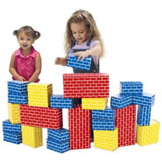 Smart Monkey Toys Giant Rainbow 24-piece Building Block Set|https://ak1.ostkcdn.com/images/products/11189358/P18181001.jpg?impolicy=medium