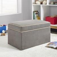Baby Relax Hadley Dark Taupe Storage Ottoman - N/A