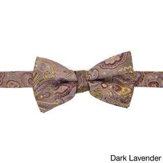 Ferrecci Men's Luxury Paisley Tapestry Bow Tie - L