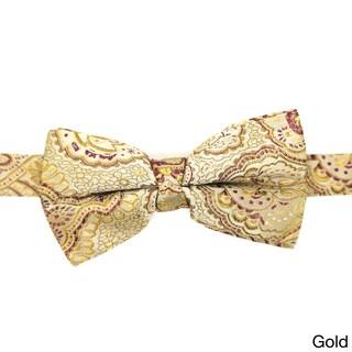 Ferrecci Men's Luxury Paisley Tapestry Bow Tie - L