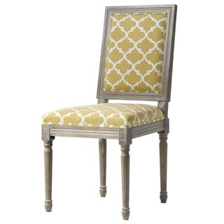 Kawano Yellow Patterned Parson Chair (Set of 2)