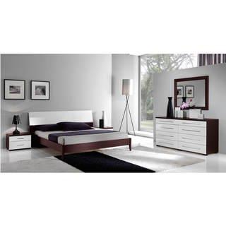 Luca Home Wenge/ White 3-piece Queen Bedroom Set