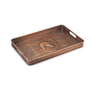 Good Directions Copper Finish Horse Shoe Multi-Purpose Shoe Tray