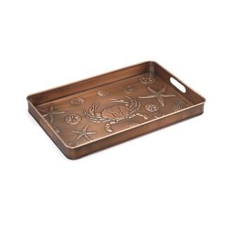 Good Directions Seashore Copper Finish Multi-Purpose Shoe Tray
