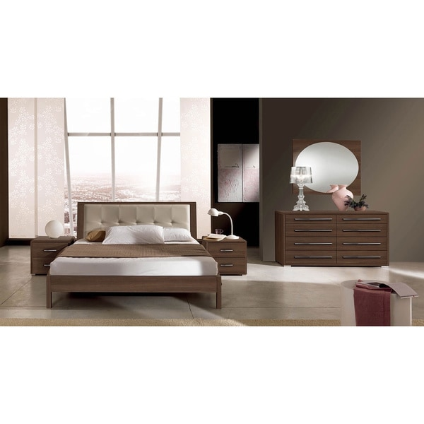 luca home brown queen bedroom set free shipping today overstock