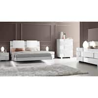 Luca Home White Modern Queen Bedroom Set