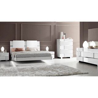white modern bedroom sets. Luca Home White Modern Queen Bedroom Set Sets