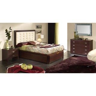 Luca Home Wenge 3-piece Queen Bedroom Set