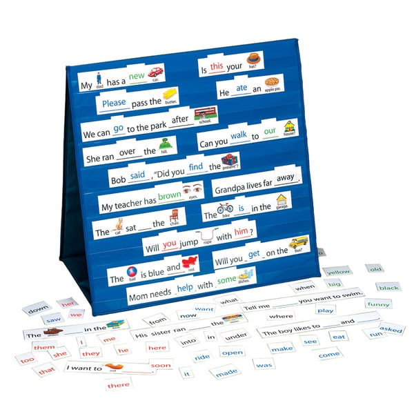 LAURI Tabletop Pocket Chart Sight Words & Sentences