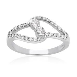 10k White Gold 1/2ct TDW Two Diamond Plus Ring - White I-J