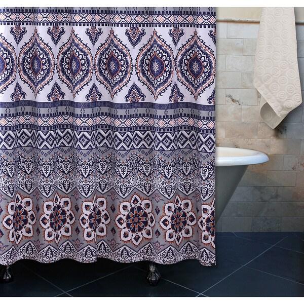 Greenland Home Fashions  Medina Saffron Shower Curtain