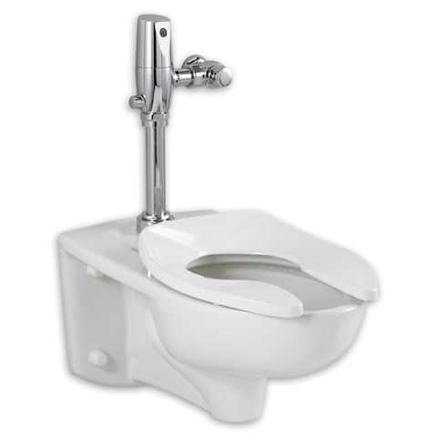 American Standard Afwall Millennium FloWise Elongated with EverClean Toilet Set