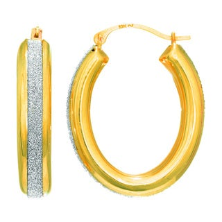 14 Karat Yellow Gold Polish Finished 17mm Dust Hoop Earrings with Hinge with Notched Closure