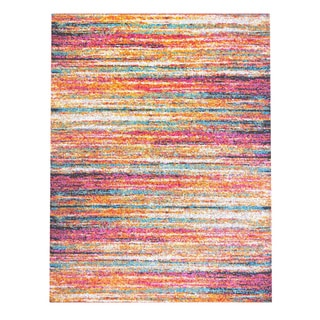Home Dynamix Splash Collection 204 Multicolored Brushstrokes Area Rug (3'3 x 4'3)