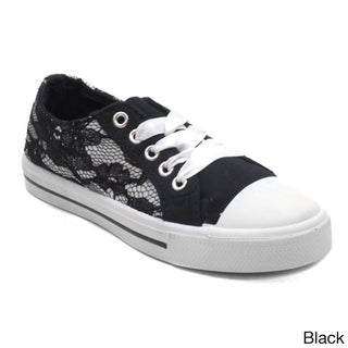Blue Girl's K-Lacey Lace Floral Sneakers