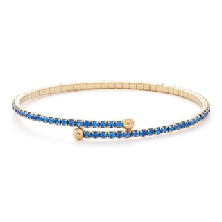 Isla Simone 14k Gold Plated Solid Pastel Tone 1-Row Flex Bangle