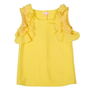 DownEast Basics Girls' Ruffled Tank Top