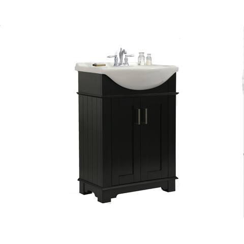 Legion Furniture 24 in. Espresso Single Sink Bathroom Vanity