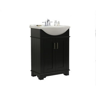 Legion Furniture 24-inch Espresso Single Sink Bathroom Vanity