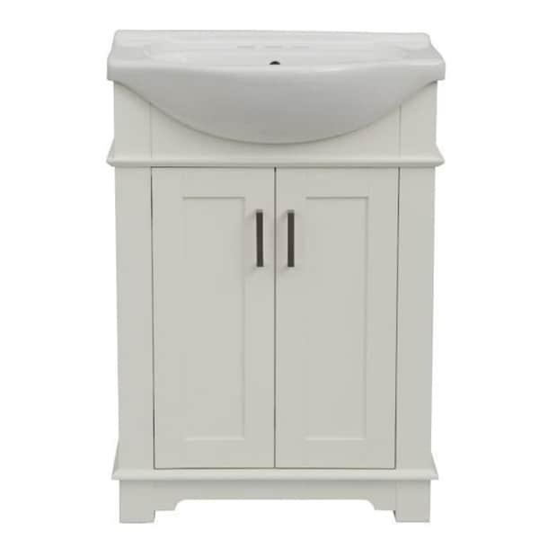 Legion Furniture 24 in. White Single Sink Bathroom Vanity