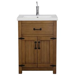 Legion Furniture 24-inch Weathered Light Brown Single Sink Bathroom Vanity