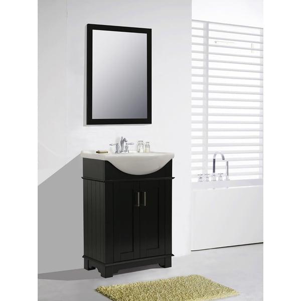Legion Furniture 24 Inch Espresso Single Sink Bathroom Vanity With Mirror Free Shipping Today