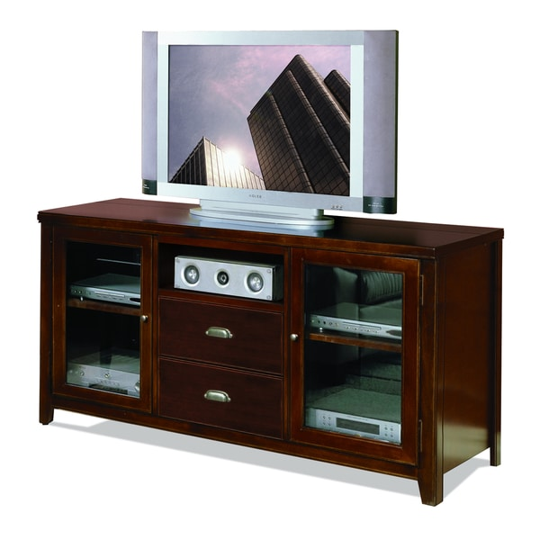 Tansley Landing Cherry Tall Tv Stand Free Shipping Today
