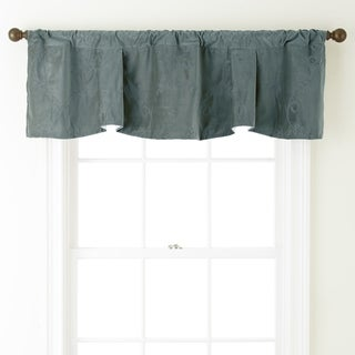 Nanshing Velvet 54 x 18-inch Embroidered Curtain Valance