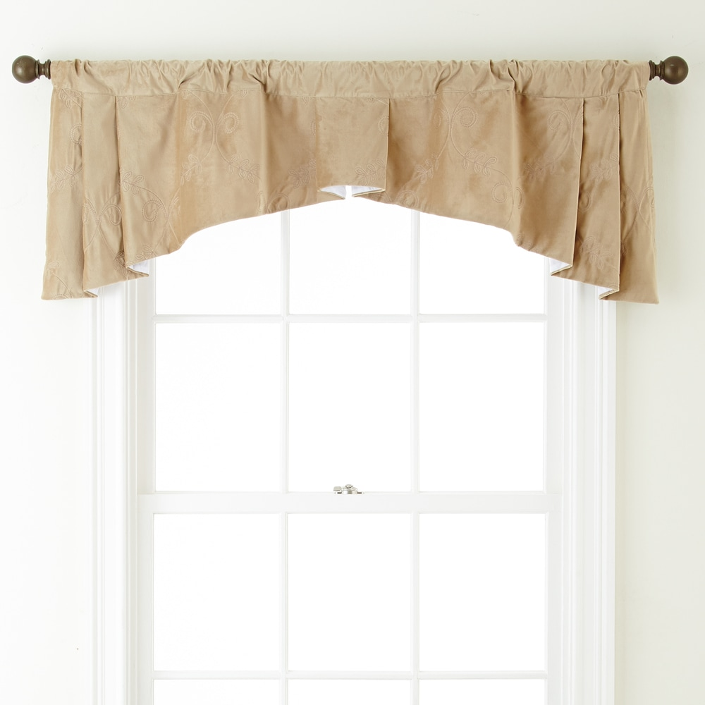Shop Grand Avenue Remedy 54 x 20-inch Embroidered Curtain Valance - 54 x 20 - 11189930