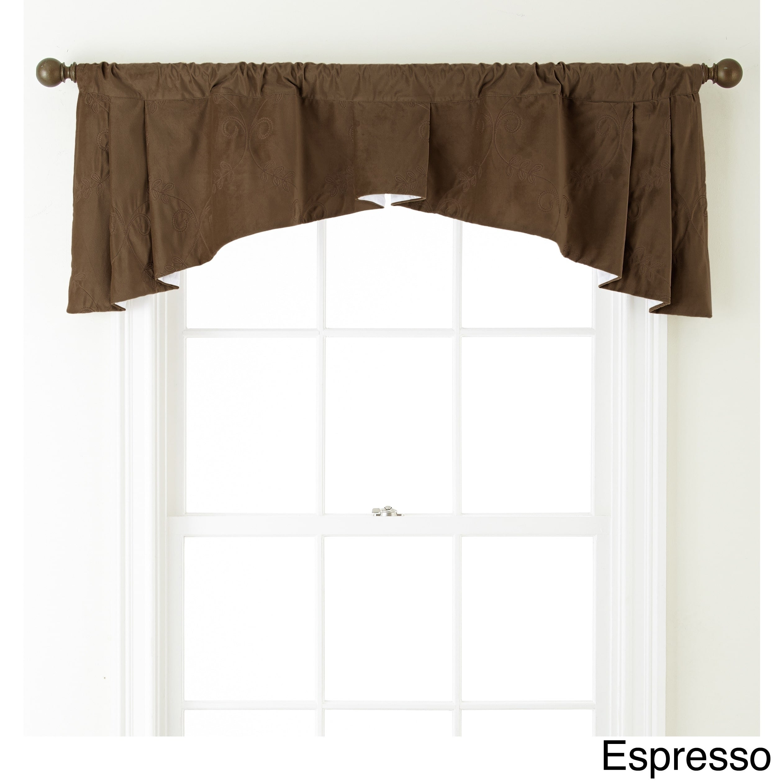 Grand Avenue Remedy 54 X 20 Inch Embroidered Curtain Valance 54 X 20 Overstock 11189930