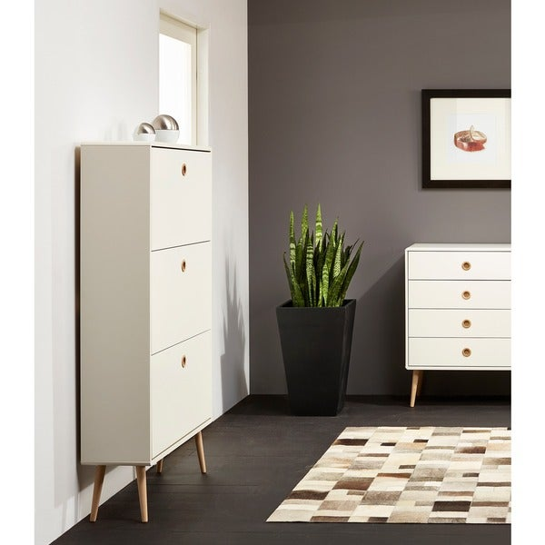 shop scandinavian lifestyle softline contemporary white shoe cabinet free shipping today. Black Bedroom Furniture Sets. Home Design Ideas