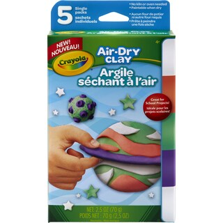 Crayola Air Dry Clay .5oz 5/Pkg Brights