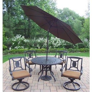 Oakland Living Sunbrella Aluminum 7-Piece Dining Set