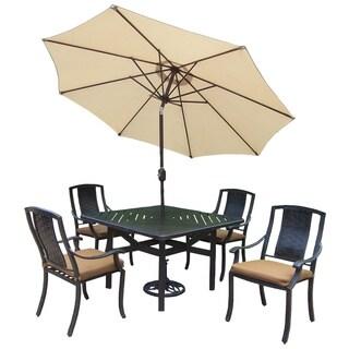 Oakland Living Vanguard Sunbrella Aluminum 7-piece Dining Set