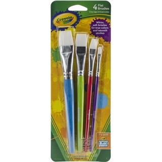 Crayola Paintbrushes Flat 4/Pkg